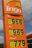 INGO GAS STATION. Copenhagen /Denmark - 13.August. 2017.   Gas price at Ingo gasoline station in Herlev    Photo.Francis Joseph  Dean/Deanpictures Stock Photo