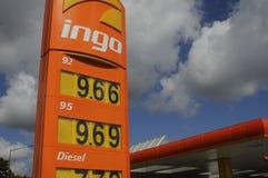 INGO GAS STATION. Copenhagen /Denmark - 13.August. 2017.   Gas price at Ingo gasoline station in Herlev    Photo.Francis Joseph  Dean/Deanpictures Stock Images