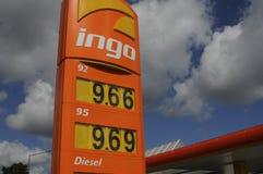 INGO GAS STATION. Copenhagen /Denmark - 13.August. 2017.   Gas price at Ingo gasoline station in Herlev    Photo.Francis Joseph  Dean/Deanpictures Stock Photography