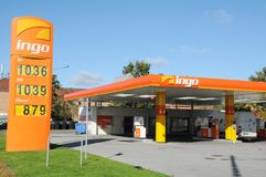 INGO GAS STATION. Copenhagen /Denmark - 09 October  2017.    INGO gas station.    Photo.Francis Dean/Dean Pictures Royalty Free Stock Image