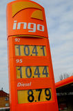 INGO GAS STATION. Herlev/Copenhagen / Denmark_  08 March 2017 -INGO gas sttion in Herlev Copenhagen.     Photo. Francis Dean/Deanpictures Royalty Free Stock Photo