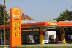 INGO GASOLINE STAION. 26 August  2016-  Ingo gas station 10.11 ,92 10.14,95 and diesen 8,40  in Herlev  Copenhagen / Denmark / Photo Royalty Free Stock Photos