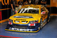 Ingo Yellow Racing Stock Car Interlagos Brazil Royalty Free Stock Photos