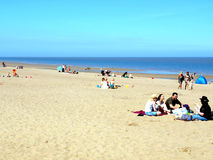 Ingoldmells beach, Skegness. Royalty Free Stock Photos