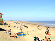Ingoldmells Beach, Skegness. Royalty Free Stock Photography
