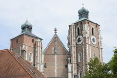 Ingolstadt Cathedral Royalty Free Stock Photos