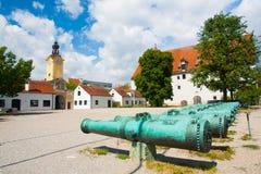 Ingolstadt slott. Armémuseum Royaltyfria Foton