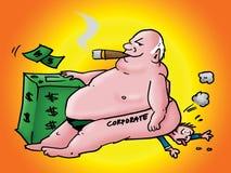 Ingordigia corporativa illustrazione di stock