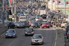 Ingorghi stradali all'ora di punta. Immagini Stock Libere da Diritti