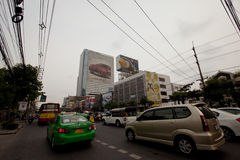 Ingorghi stradali a Bangkok Fotografie Stock Libere da Diritti