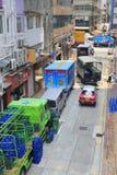 Ingorghi stradali del vicolo ammucchiato Fotografia Stock