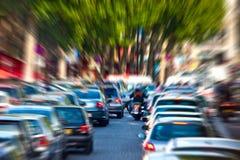 Ingorgo stradale Fotografie Stock