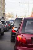 Ingorgo stradale Immagine Stock