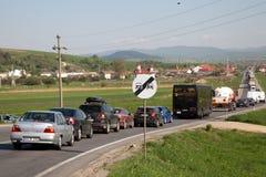 Ingorgo stradale Fotografia Stock