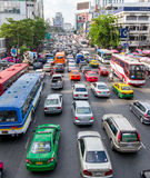 Ingorgo stradale a Bangkok fotografie stock
