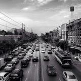 Ingorgo stradale a Bangkok Fotografia Stock