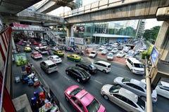 Ingorgo stradale a Bangkok Fotografie Stock Libere da Diritti