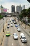 Ingorgo stradale a Bangkok Fotografia Stock Libera da Diritti