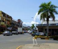 Ingorgo stradale, città di Nadi, Figi Fotografie Stock