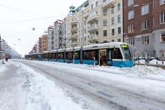 Ingorgo stradale del tram Fotografie Stock Libere da Diritti