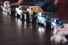 ingorgo stradale delle automobili del giocattolo, Fotografia Stock