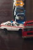 ingorgo stradale delle automobili del giocattolo, Fotografia Stock Libera da Diritti