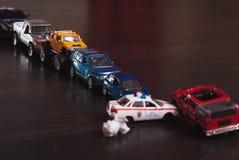 ingorgo stradale delle automobili del giocattolo, Immagine Stock Libera da Diritti