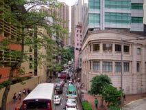 Ingorgo stradale di Hong Kong al giorno Fotografia Stock Libera da Diritti