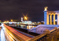 Ingorgo stradale di Mosca fotografia stock