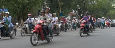 Ingorgo stradale a Ho Chi Minh City Vietnam Immagine Stock Libera da Diritti