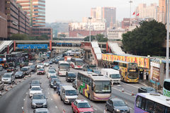 Ingorgo stradale a Hong Kong Immagini Stock Libere da Diritti