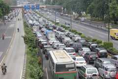 Ingorgo stradale a Jakarta fotografia stock libera da diritti