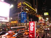 Ingorgo stradale Midnight in Times Square fotografia stock libera da diritti
