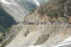 Ingorgo stradale in montagna (Ladakh) - 3 Immagini Stock Libere da Diritti