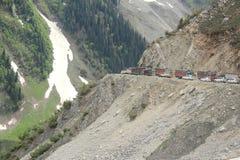 Ingorgo stradale in montagna (Ladakh) - 2 Fotografia Stock Libera da Diritti