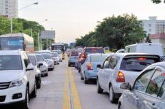 Ingorgo stradale nella città immagini stock libere da diritti
