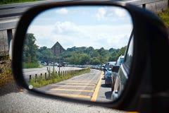 Ingorgo stradale nello specchio Fotografie Stock Libere da Diritti