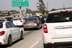 Ingorgo stradale orientale Los Angeles di 10 Fwy del centro immagini stock