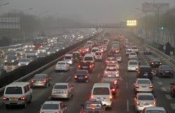 Ingorgo stradale a Pechino, Cina Fotografia Stock Libera da Diritti