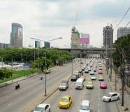 Ingorgo stradale quotidiano nel pomeriggio a Bangkok Immagine Stock Libera da Diritti