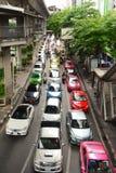 Ingorgo stradale quotidiano nel pomeriggio a Bangkok Fotografia Stock Libera da Diritti