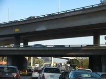 Ingorgo stradale su I-405, una delle autostrade senza pedaggio più occupate del sud di California's Fotografia Stock