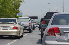 Ingorgo stradale sul modo preciso Bangkok Immagine Stock Libera da Diritti