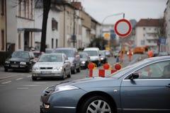Ingorgo stradale urbano Fotografia Stock Libera da Diritti