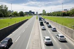 Ingorgo stradale a Zagabria Immagine Stock Libera da Diritti