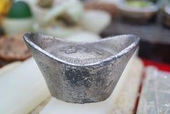 Ingot, china coins Royalty Free Stock Photo