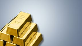 Ingot. Gold Metal Finance Wealth Growth Business stock photo