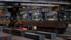 Ingot tong crane stock video footage