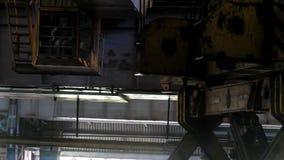 Ingot tong crane. stock video