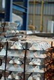 Ingots in factory Royalty Free Stock Photos